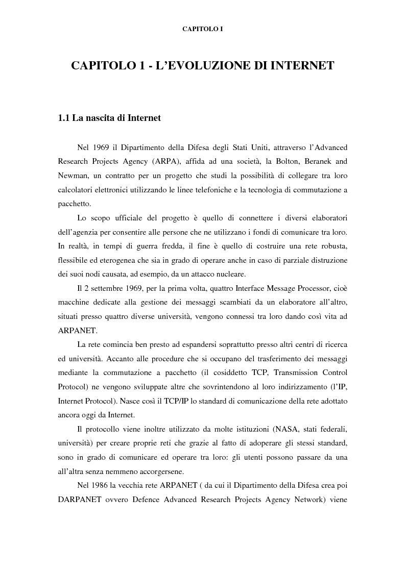 Anteprima della tesi: Gli effetti di Internet sul settore alberghiero italiano, Pagina 1