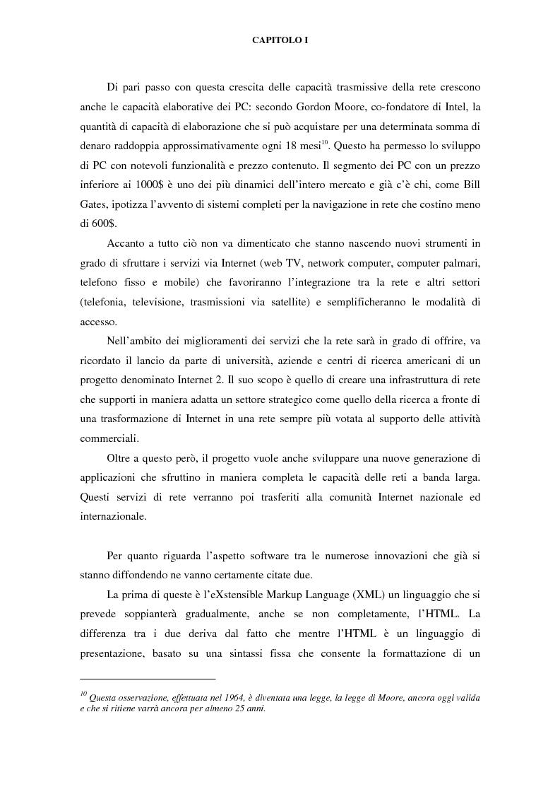 Anteprima della tesi: Gli effetti di Internet sul settore alberghiero italiano, Pagina 11