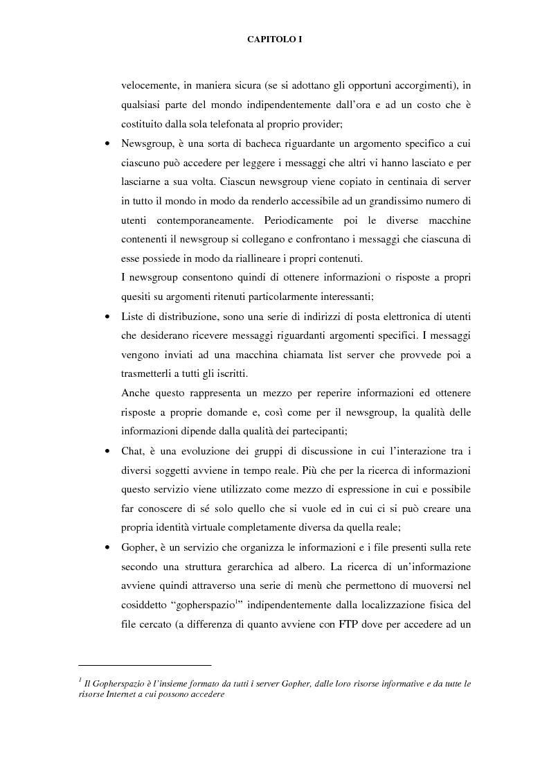 Anteprima della tesi: Gli effetti di Internet sul settore alberghiero italiano, Pagina 3