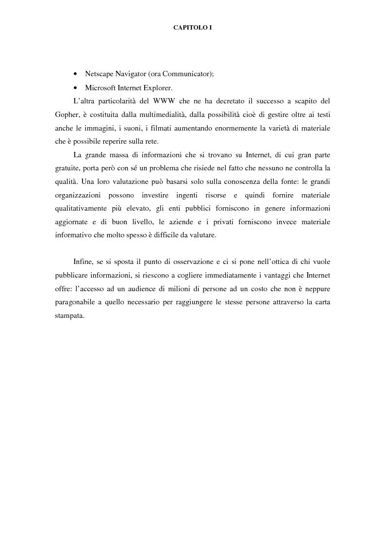 Anteprima della tesi: Gli effetti di Internet sul settore alberghiero italiano, Pagina 5