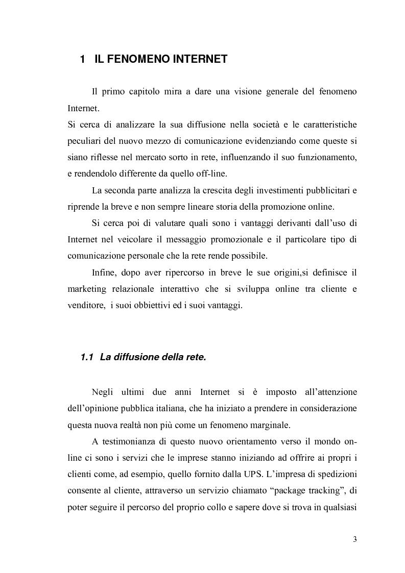Anteprima della tesi: Comunicazione e promozione di un sito web, Pagina 1