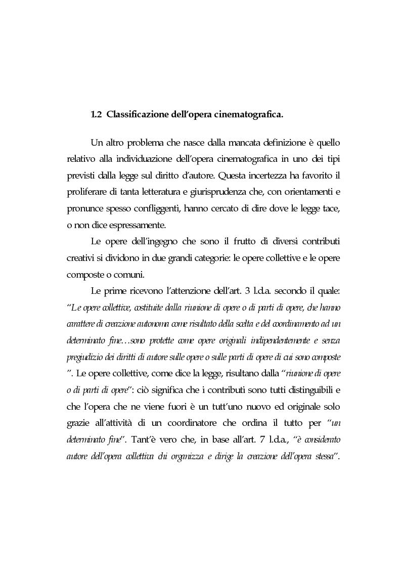 Anteprima della tesi: L'opera cinematografica: in particolare del produttore cinematografico, Pagina 7