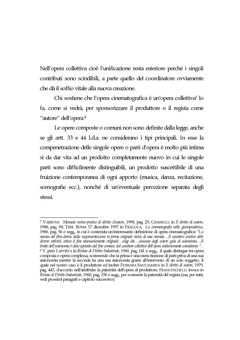 Anteprima della tesi: L'opera cinematografica: in particolare del produttore cinematografico, Pagina 8