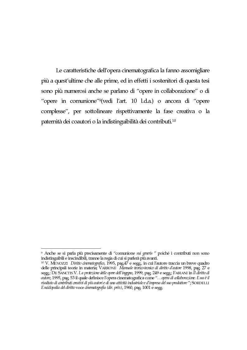Anteprima della tesi: L'opera cinematografica: in particolare del produttore cinematografico, Pagina 9