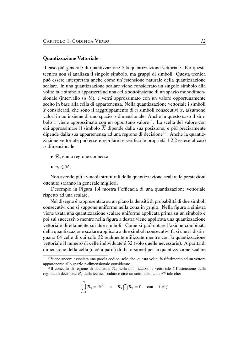 Anteprima della tesi: Compressione object-based del segnale video mediante trasformata Wavelet, Pagina 12
