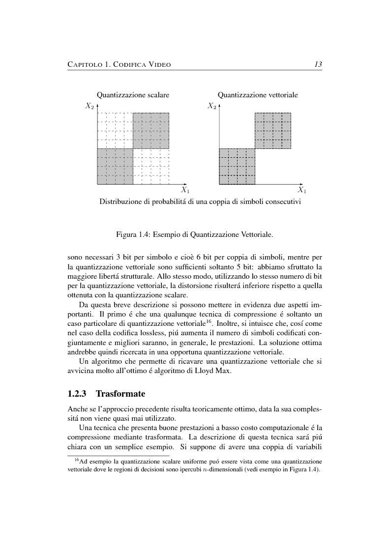 Anteprima della tesi: Compressione object-based del segnale video mediante trasformata Wavelet, Pagina 13