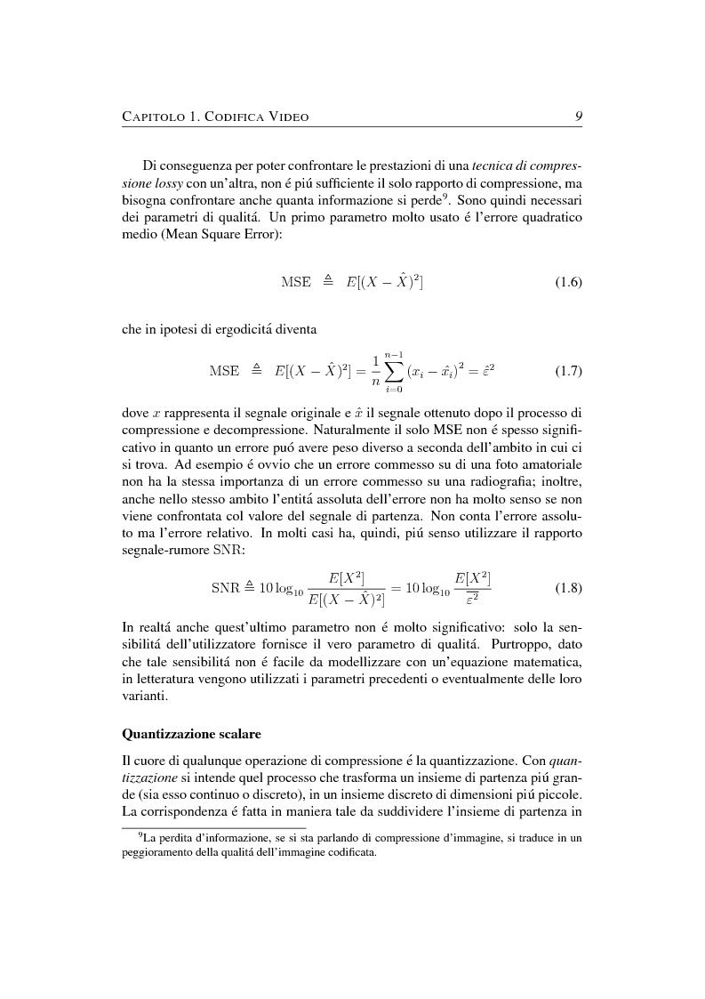 Anteprima della tesi: Compressione object-based del segnale video mediante trasformata Wavelet, Pagina 9