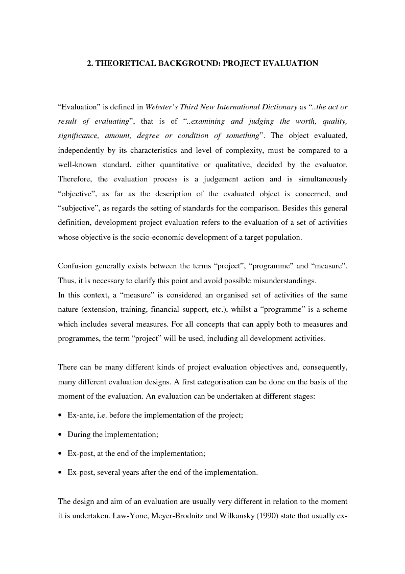 Anteprima della tesi: A decision-making model as an assisting tool in designing evaluation strategies for integrated rural development programmes, Pagina 9
