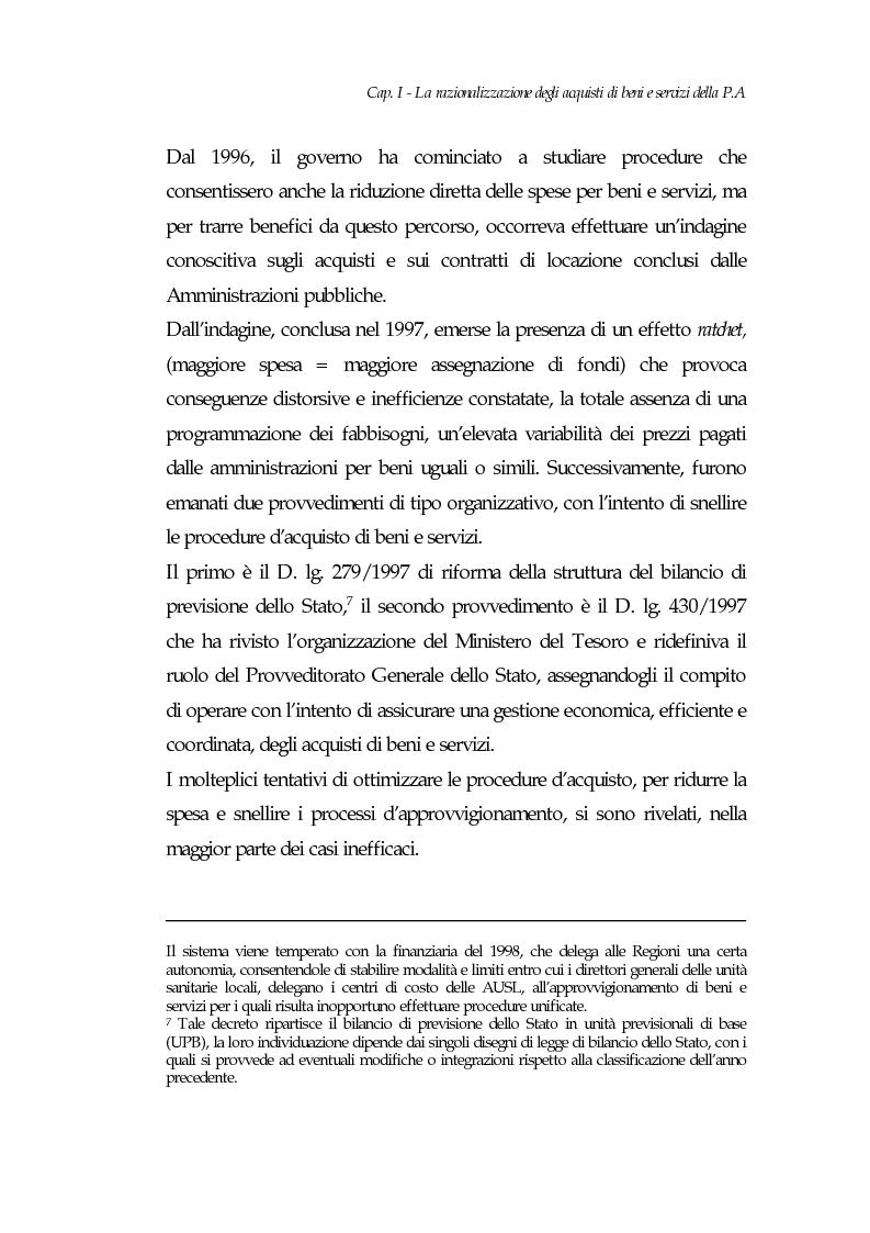 Anteprima della tesi: E-procurement per beni e servizi nella pubblica amministrazione: un'analisi di fattibilità nel settore sanitario, Pagina 12