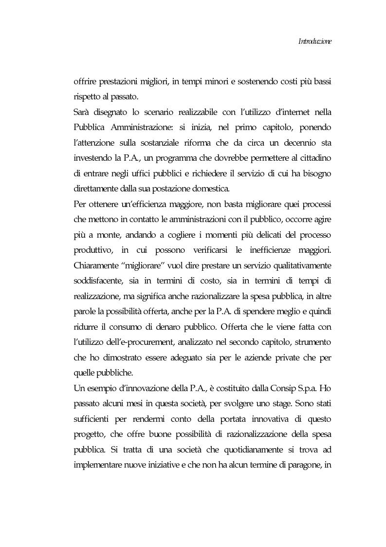 Anteprima della tesi: E-procurement per beni e servizi nella pubblica amministrazione: un'analisi di fattibilità nel settore sanitario, Pagina 2