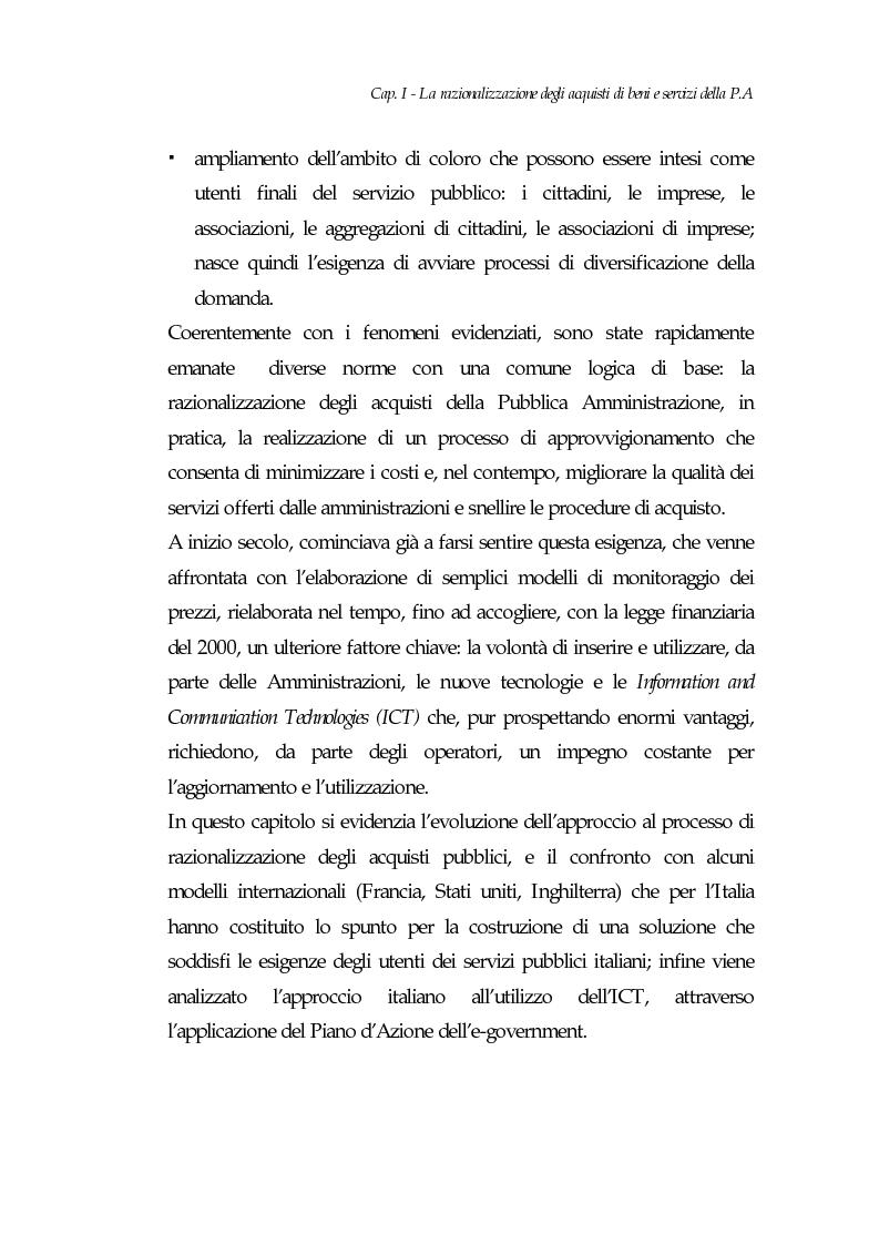 Anteprima della tesi: E-procurement per beni e servizi nella pubblica amministrazione: un'analisi di fattibilità nel settore sanitario, Pagina 6