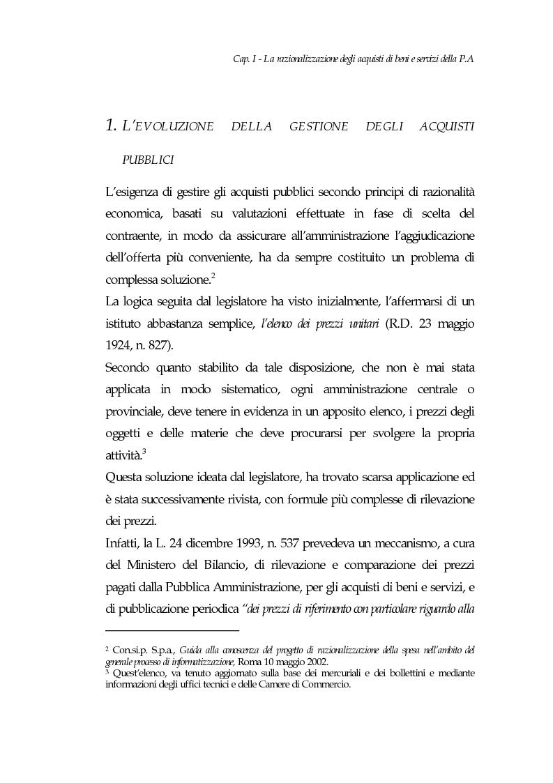 Anteprima della tesi: E-procurement per beni e servizi nella pubblica amministrazione: un'analisi di fattibilità nel settore sanitario, Pagina 7