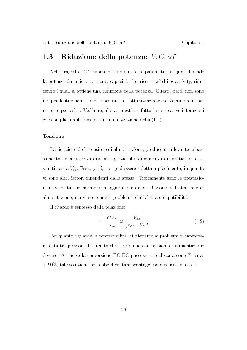 Anteprima della tesi: Progettazione di un moltiplicatore binario veloce a basso consumo di potenza, Pagina 10