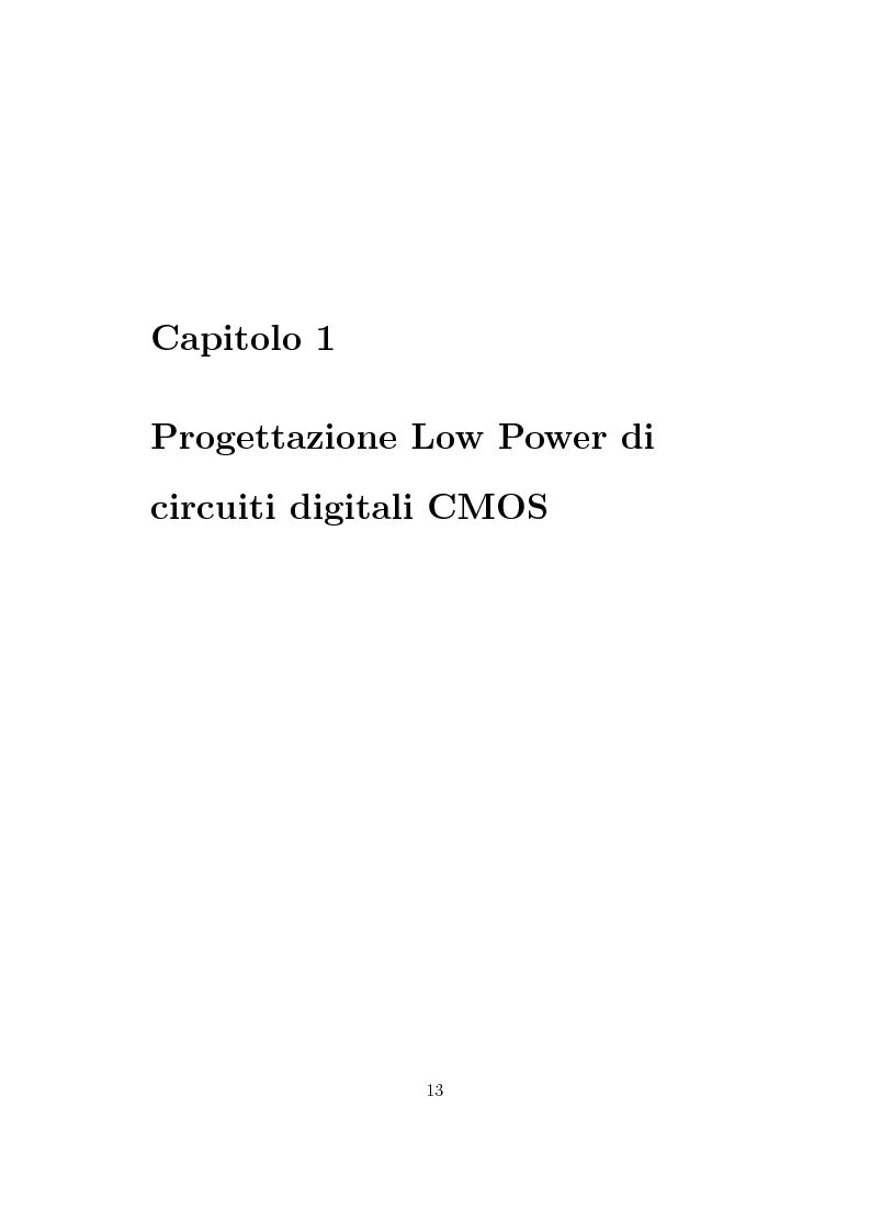 Anteprima della tesi: Progettazione di un moltiplicatore binario veloce a basso consumo di potenza, Pagina 4