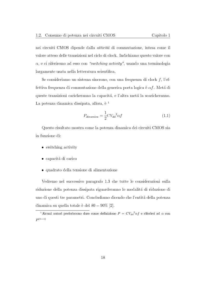 Anteprima della tesi: Progettazione di un moltiplicatore binario veloce a basso consumo di potenza, Pagina 9