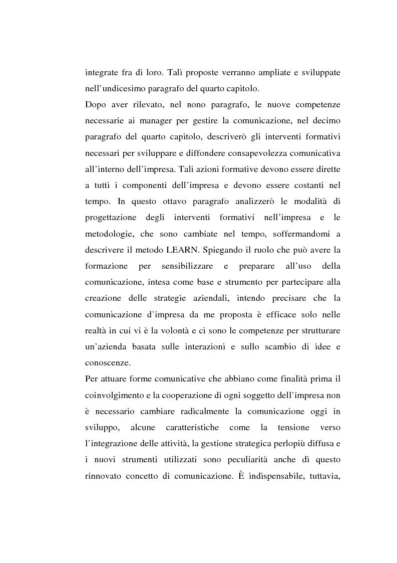 Anteprima della tesi: La comunicazione organizzativa: teorie e condizioni di realizzazione nelle imprese italiane, Pagina 10