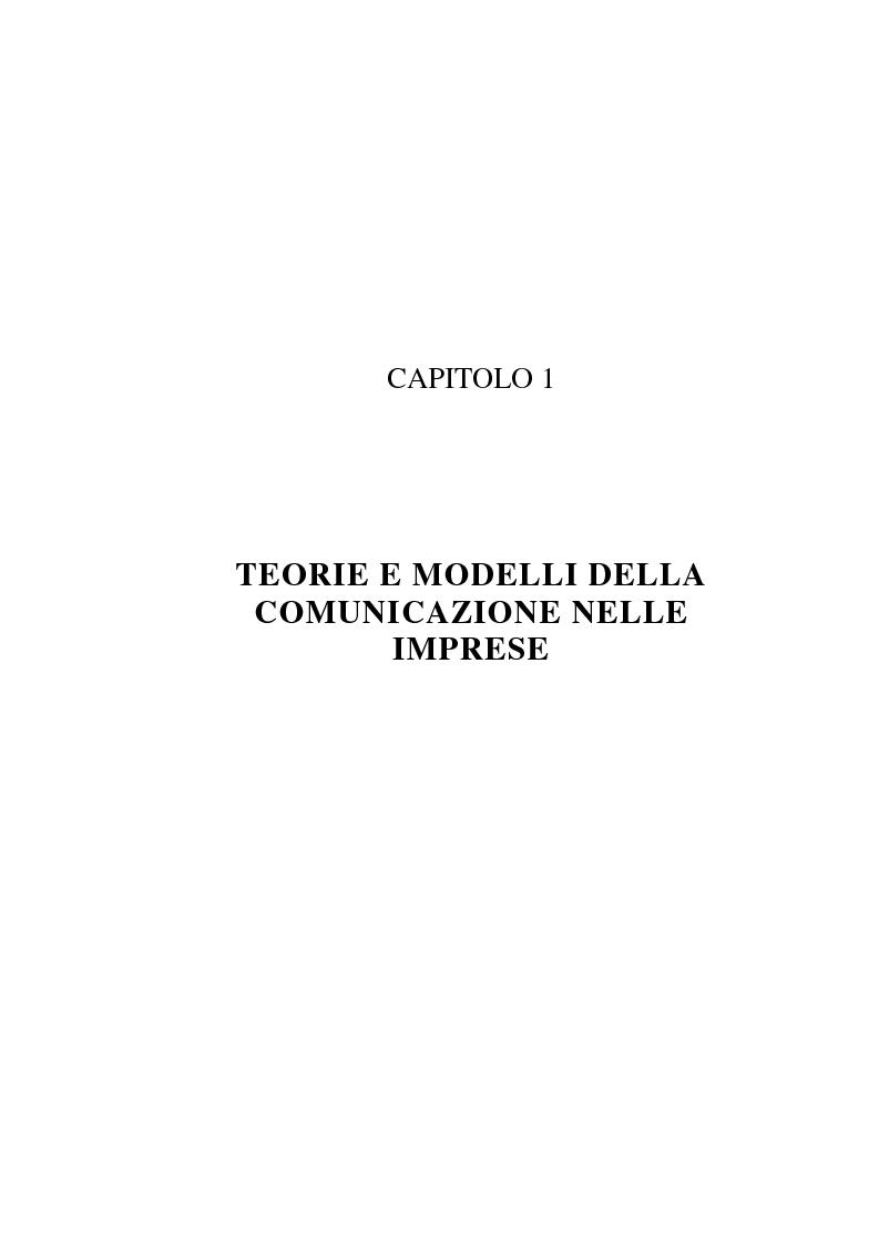 Anteprima della tesi: La comunicazione organizzativa: teorie e condizioni di realizzazione nelle imprese italiane, Pagina 13