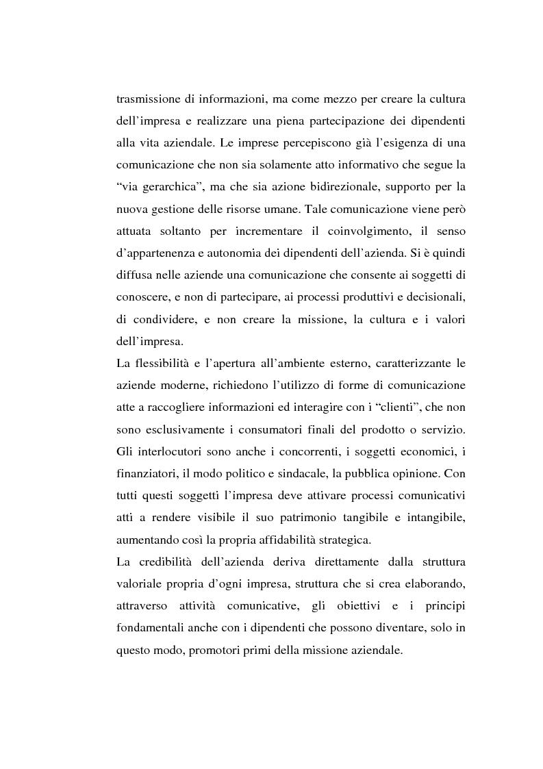 Anteprima della tesi: La comunicazione organizzativa: teorie e condizioni di realizzazione nelle imprese italiane, Pagina 2