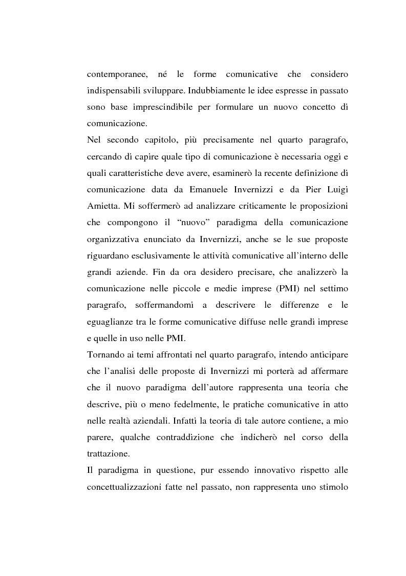 Anteprima della tesi: La comunicazione organizzativa: teorie e condizioni di realizzazione nelle imprese italiane, Pagina 4