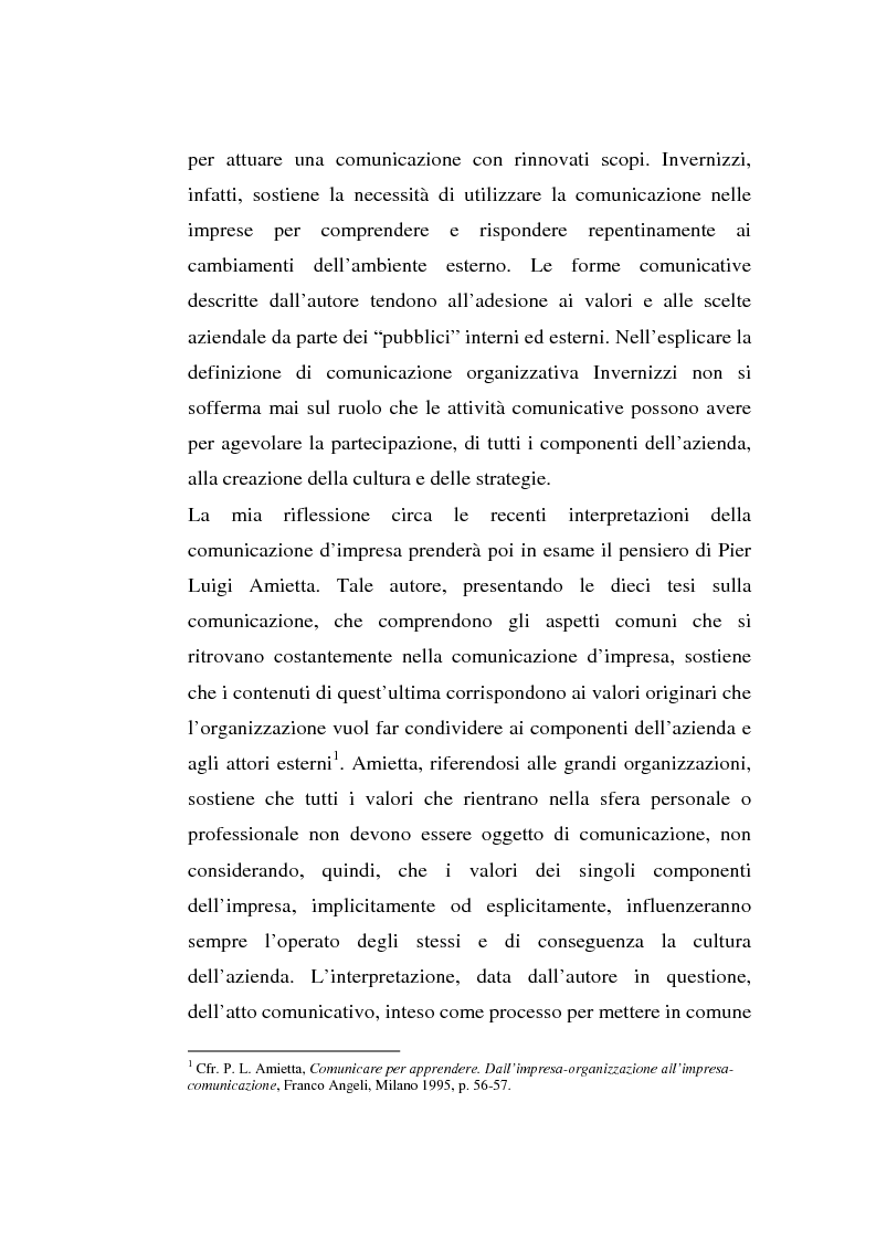 Anteprima della tesi: La comunicazione organizzativa: teorie e condizioni di realizzazione nelle imprese italiane, Pagina 5