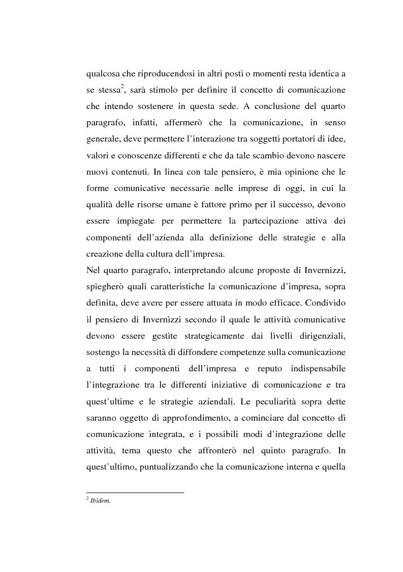 Anteprima della tesi: La comunicazione organizzativa: teorie e condizioni di realizzazione nelle imprese italiane, Pagina 6