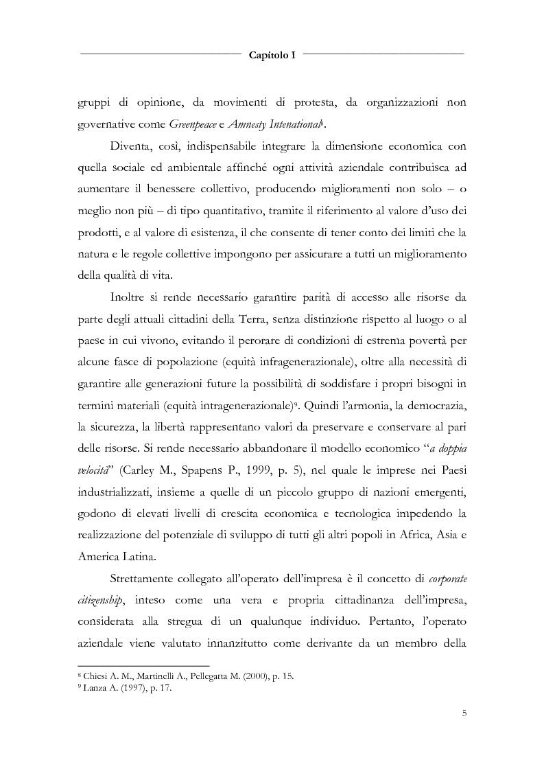 Anteprima della tesi: Responsabilità sociale d'impresa e bilancio sociale nelle aziende di credito, Pagina 7