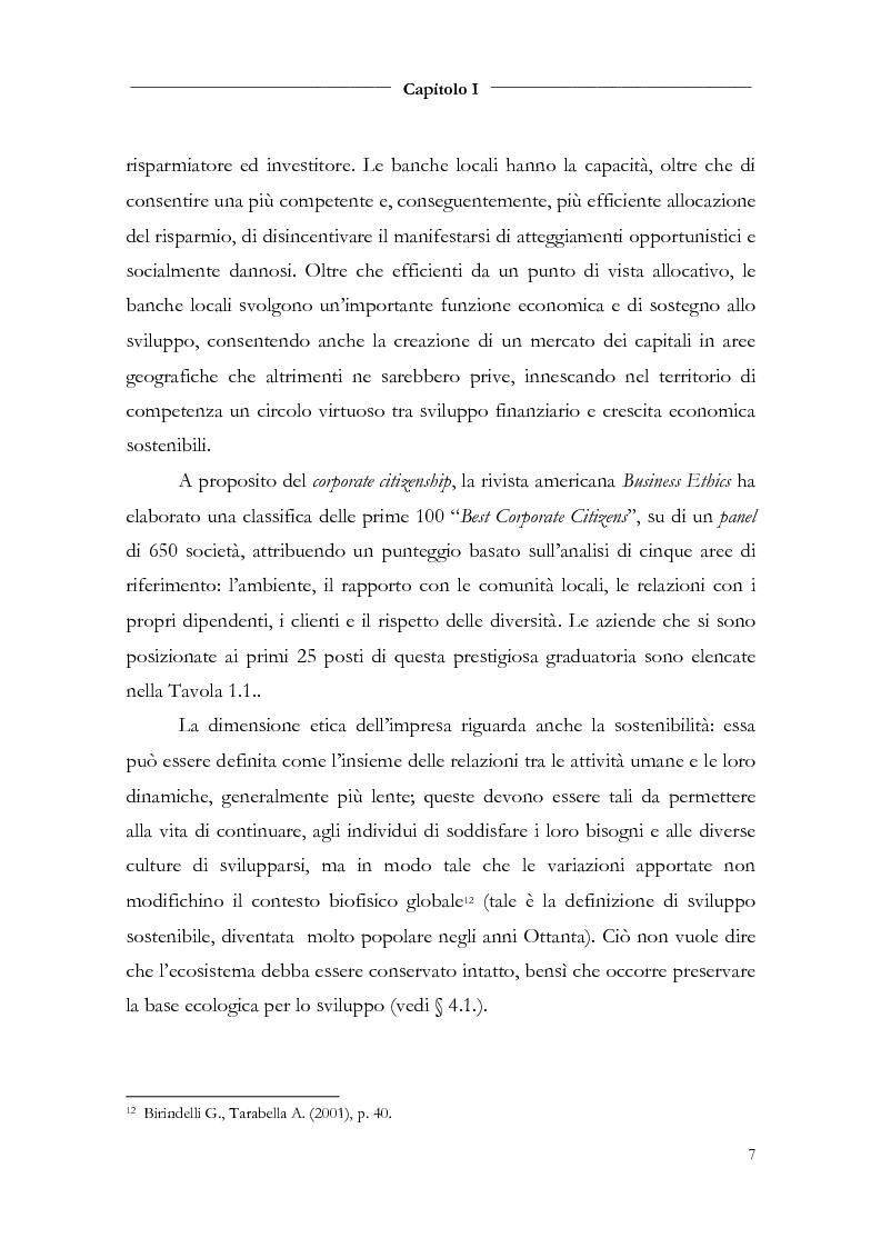Anteprima della tesi: Responsabilità sociale d'impresa e bilancio sociale nelle aziende di credito, Pagina 9