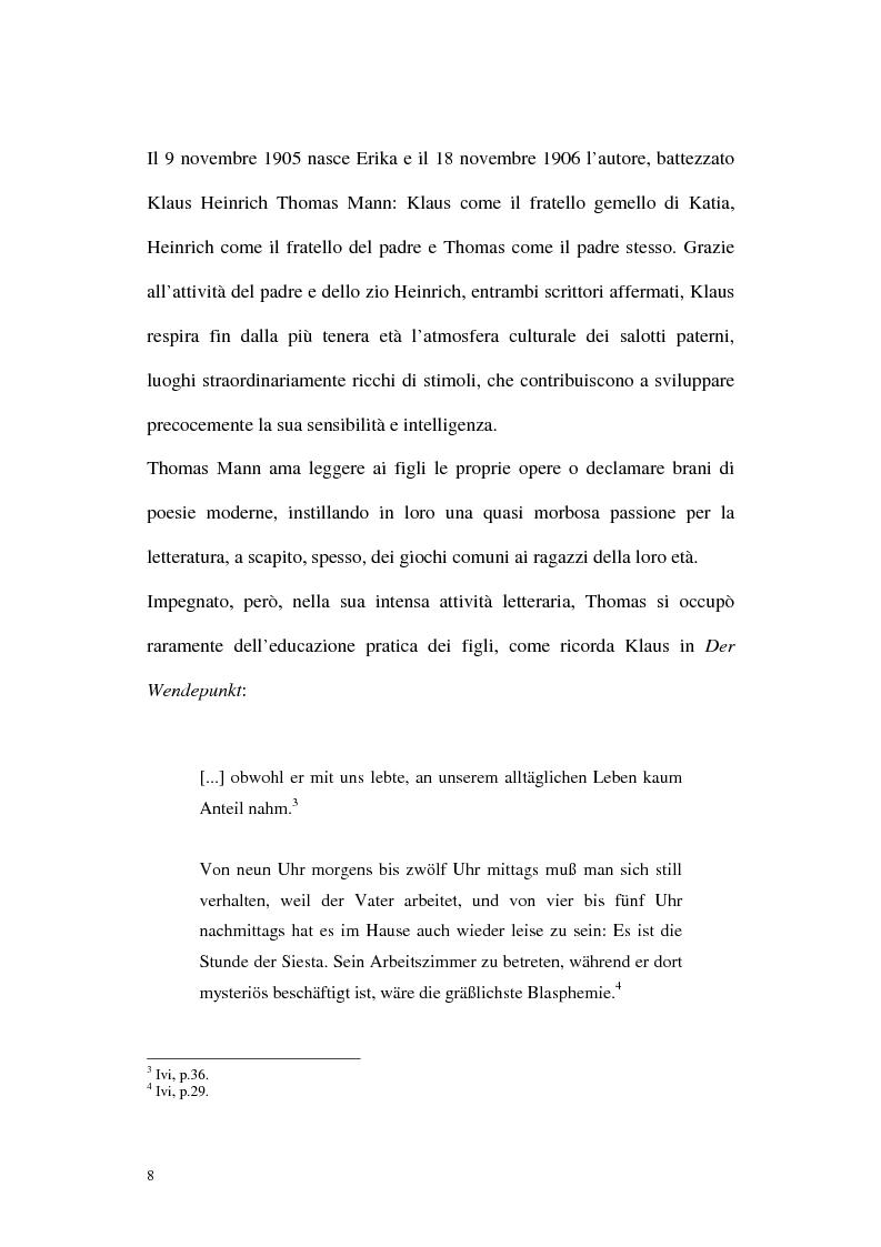 Anteprima della tesi: L'ombra di Klaus Mann, Pagina 7