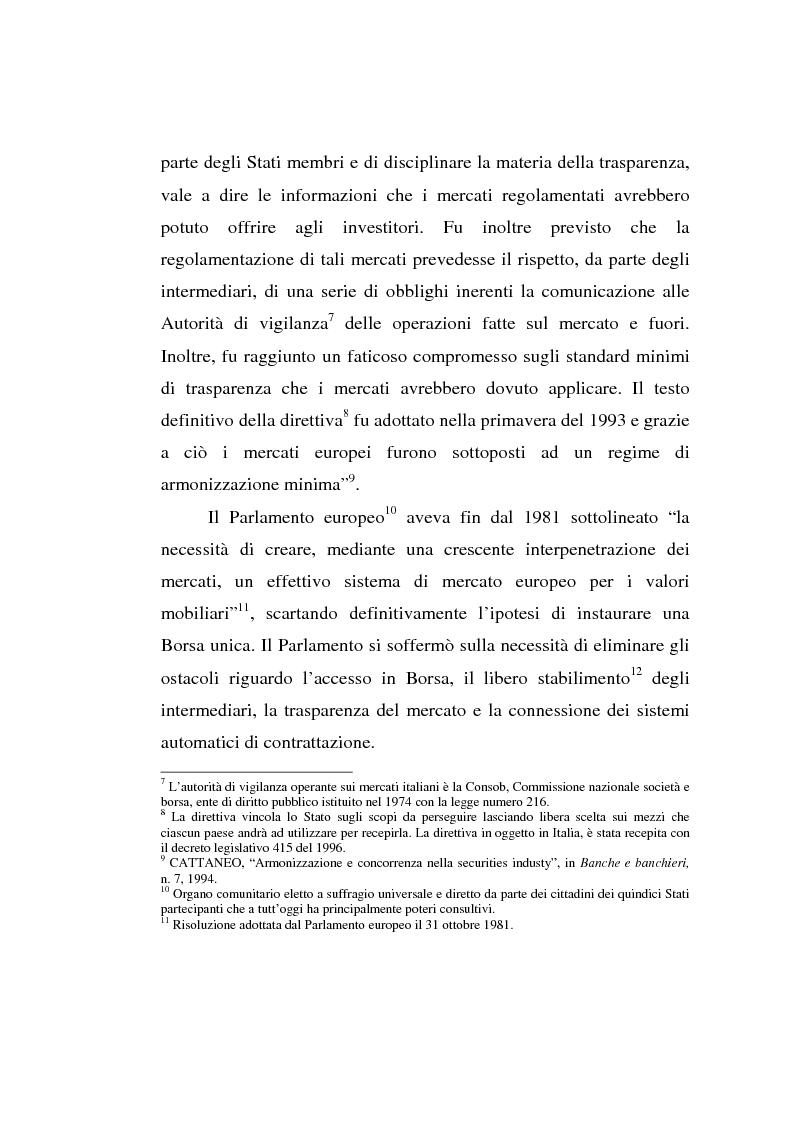 Anteprima della tesi: L'evoluzione della Borsa Italiana S.p.A., Pagina 10