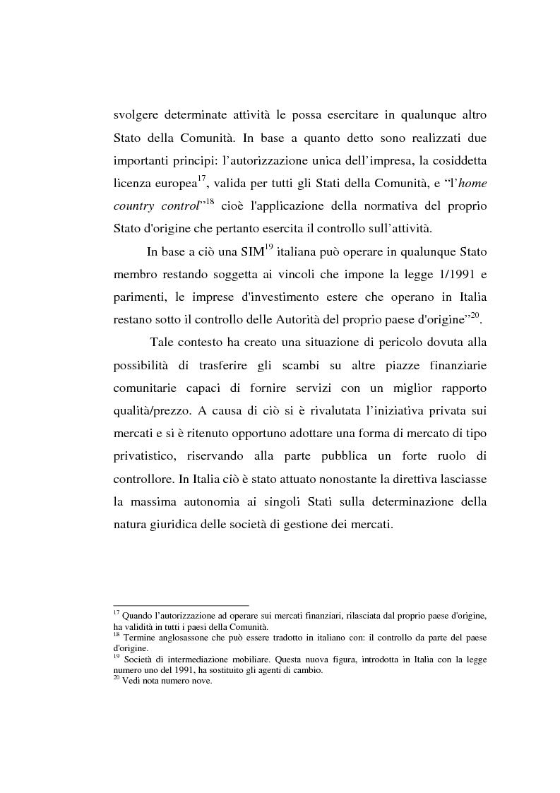 Anteprima della tesi: L'evoluzione della Borsa Italiana S.p.A., Pagina 13