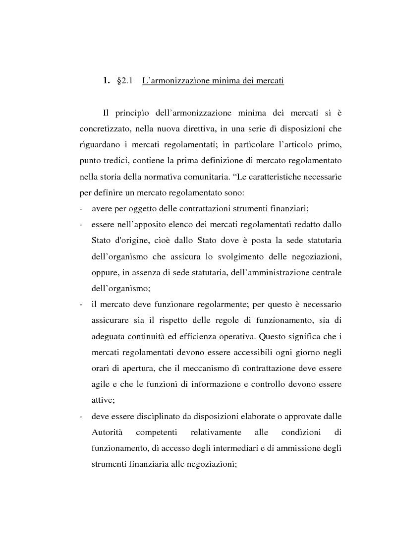 Anteprima della tesi: L'evoluzione della Borsa Italiana S.p.A., Pagina 14