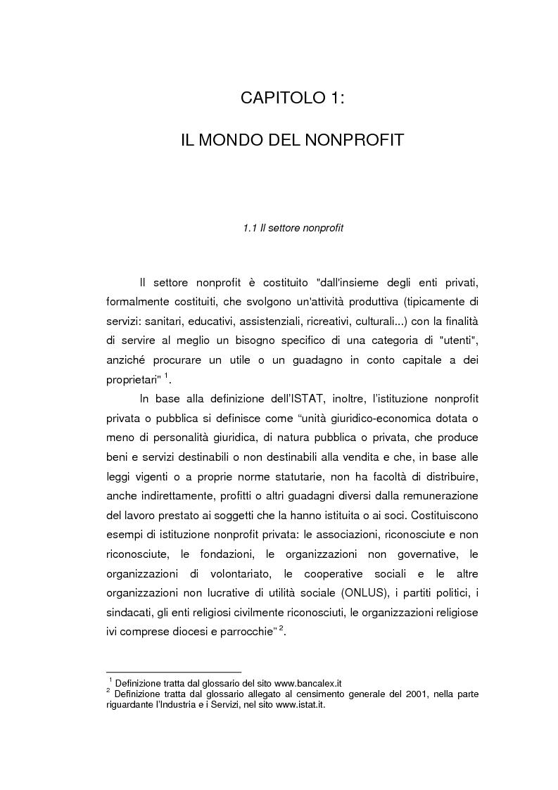 Anteprima della tesi: Fondazioni bancarie e attività culturali. Il caso Fondazione Cassamarca di Treviso, Pagina 1