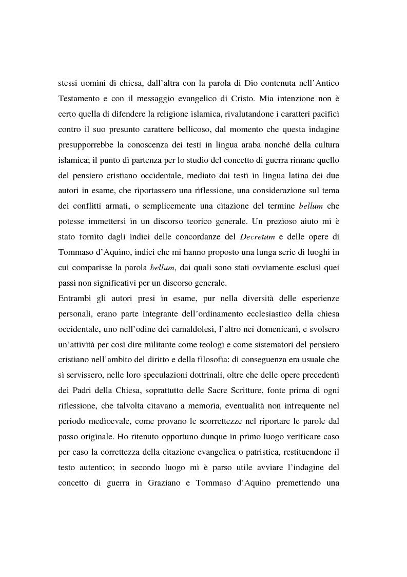 Anteprima della tesi: Il concetto di guerra in Graziano e Tommaso d'Aquino, Pagina 3