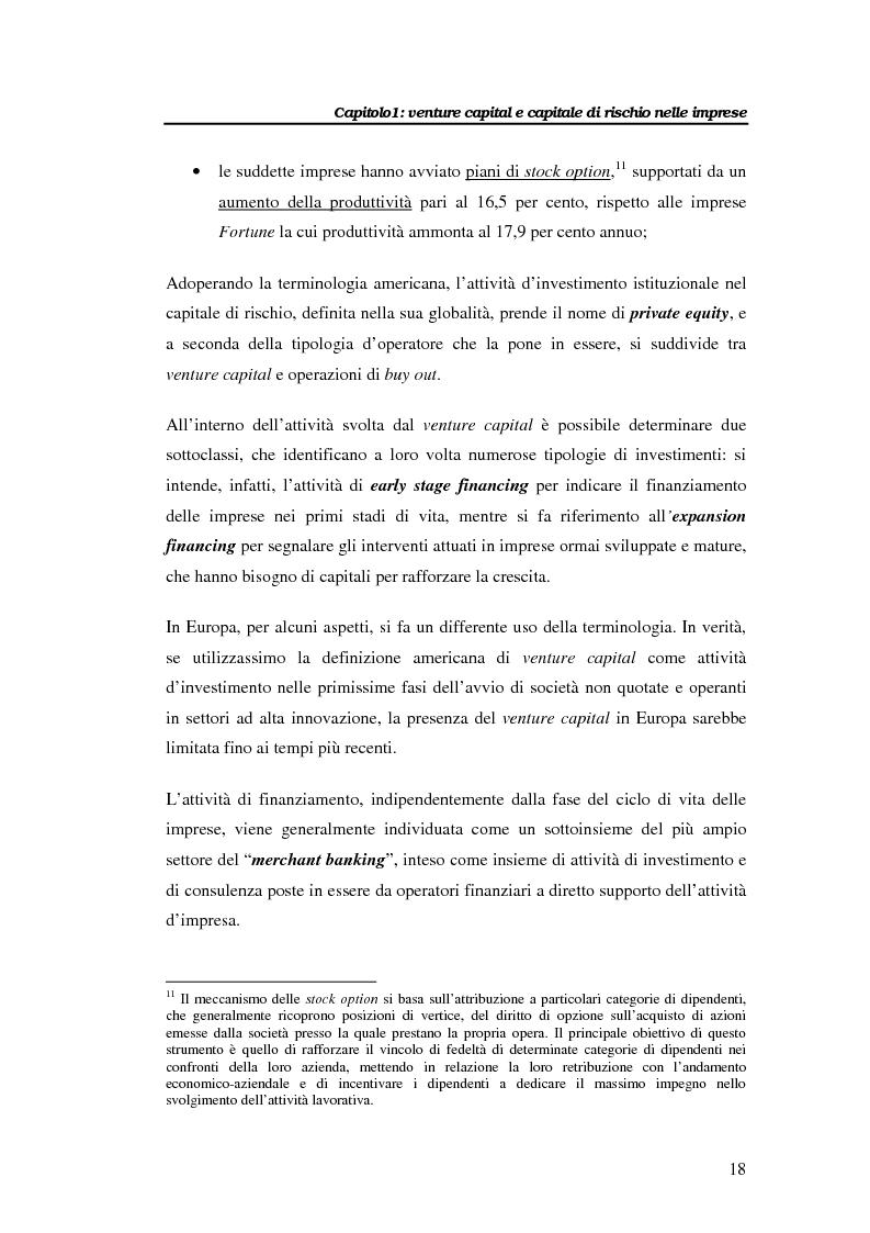 Anteprima della tesi: Il venture capital per lo sviluppo delle imprese: il caso Novuspharma s.p.a., Pagina 13