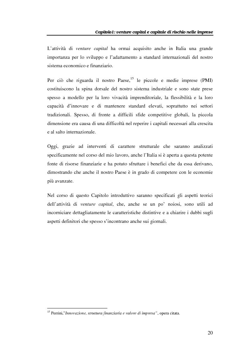 Anteprima della tesi: Il venture capital per lo sviluppo delle imprese: il caso Novuspharma s.p.a., Pagina 15