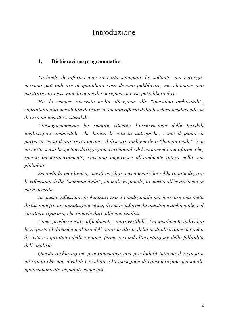 Anteprima della tesi: I disastri ambientali sui media: il caso delle petroliere (1976-2001), Pagina 1