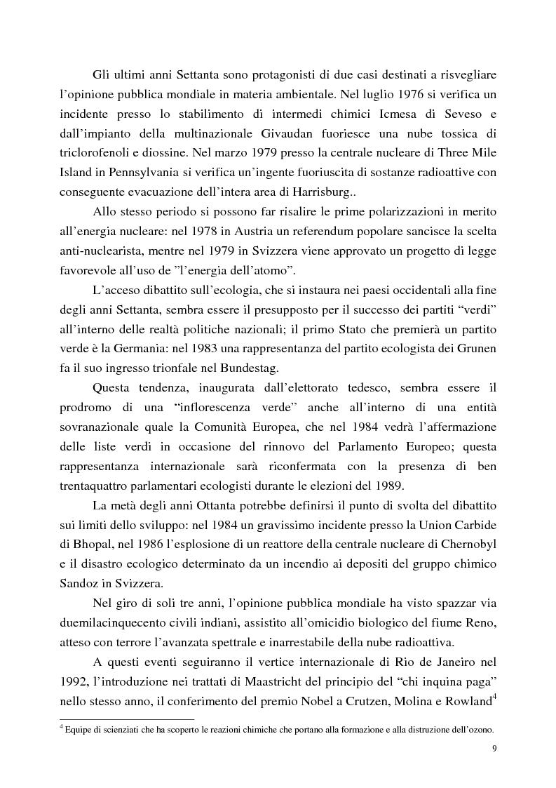Anteprima della tesi: I disastri ambientali sui media: il caso delle petroliere (1976-2001), Pagina 6