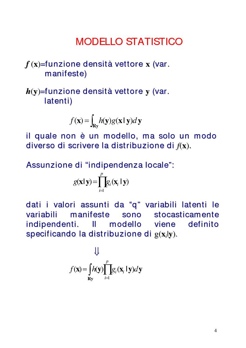 Anteprima della tesi: Le classi latenti: una analisi fattoriale per dati categoriali, Pagina 4