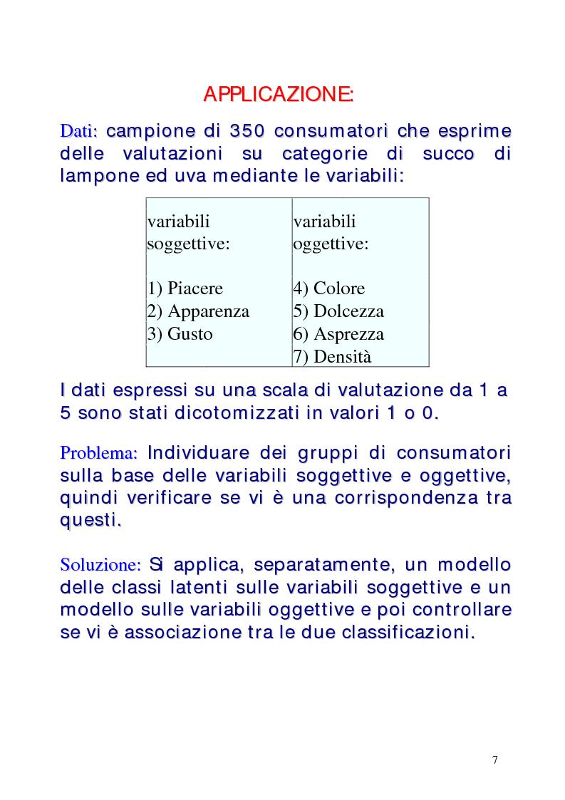 Anteprima della tesi: Le classi latenti: una analisi fattoriale per dati categoriali, Pagina 7