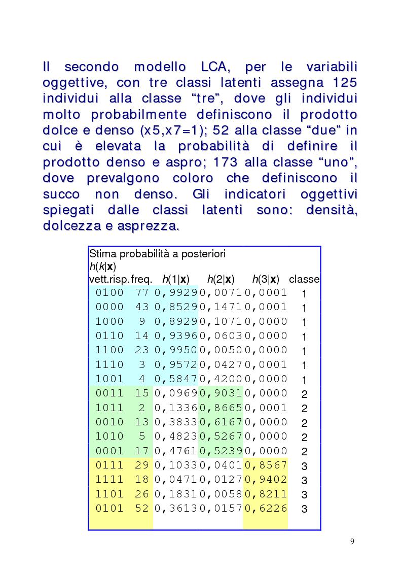 Anteprima della tesi: Le classi latenti: una analisi fattoriale per dati categoriali, Pagina 9