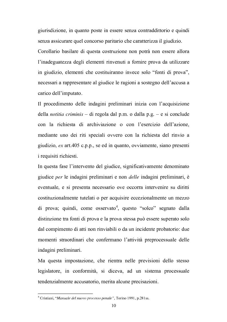 Anteprima della tesi: La chiusura delle indagini preliminari, Pagina 8