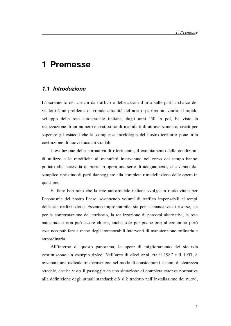 Anteprima della tesi: Adeguamento con compositi fibro-rinforzati per l'installazione di nuove barriere sicurvia sugli impalcati da ponte, Pagina 1