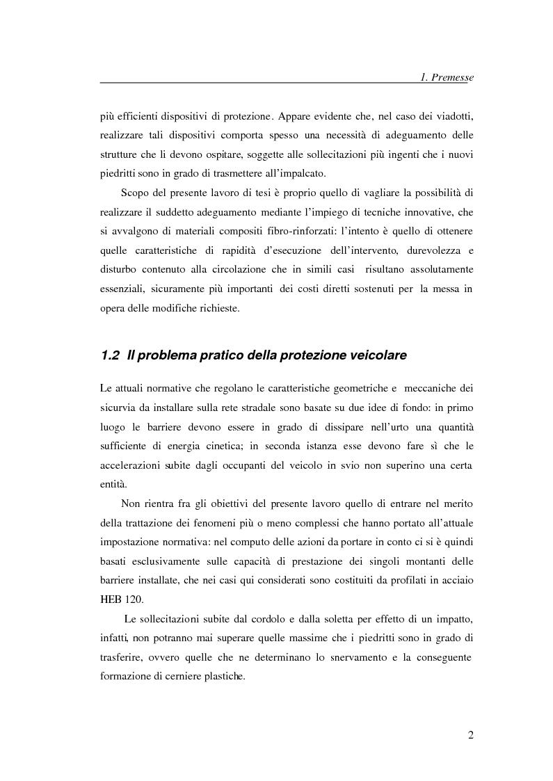 Anteprima della tesi: Adeguamento con compositi fibro-rinforzati per l'installazione di nuove barriere sicurvia sugli impalcati da ponte, Pagina 2