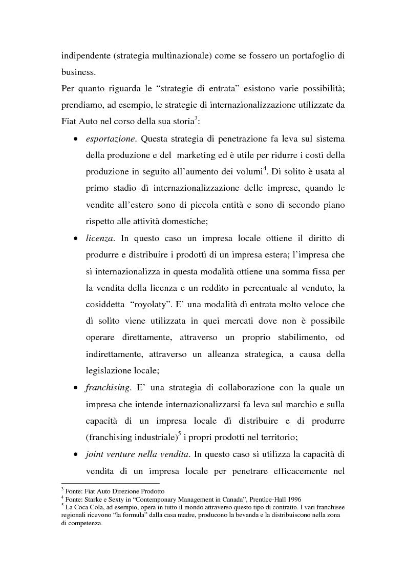 Anteprima della tesi: Globalizzazione e strategie competitive: il caso Fiat auto, Pagina 2