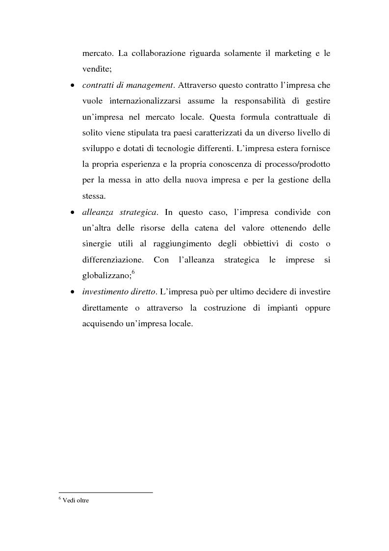 Anteprima della tesi: Globalizzazione e strategie competitive: il caso Fiat auto, Pagina 3