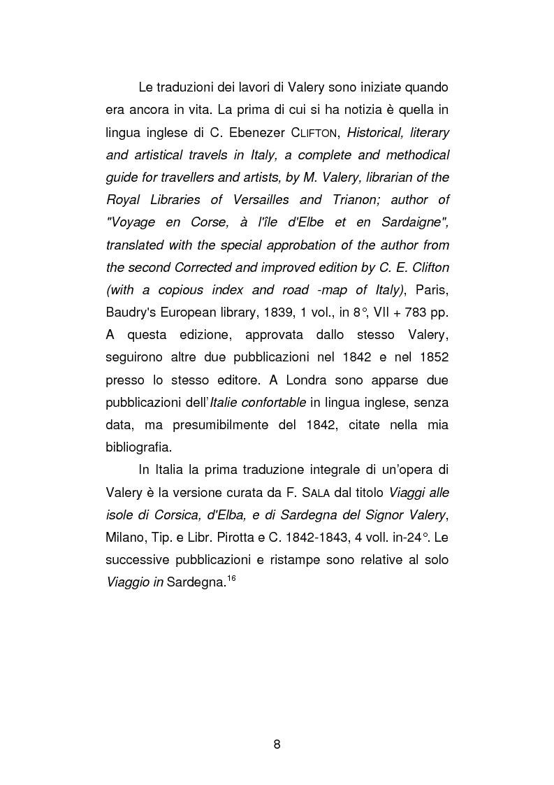 Anteprima della tesi: La versione interfoliata dei ''Voyages historiques, litteraries et artistiques en Italie'' di Antoine-Claude Pasquin Valery, Pagina 11