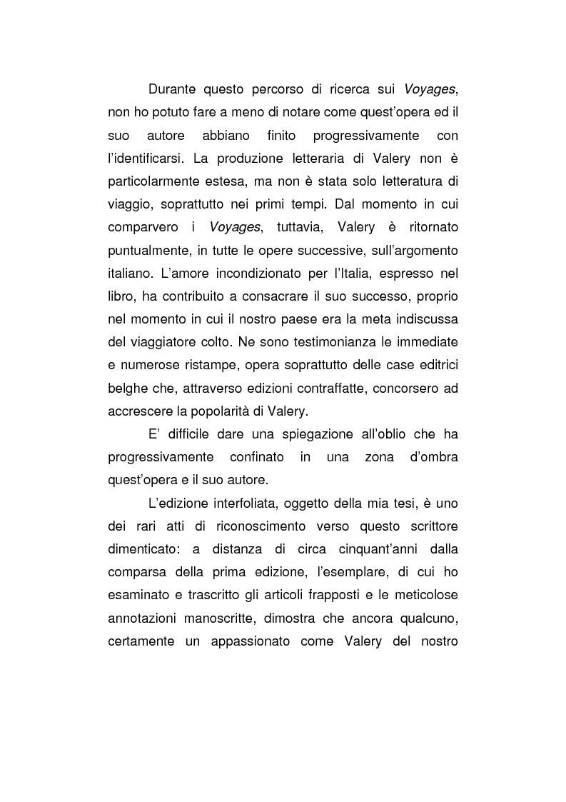 Anteprima della tesi: La versione interfoliata dei ''Voyages historiques, litteraries et artistiques en Italie'' di Antoine-Claude Pasquin Valery, Pagina 2