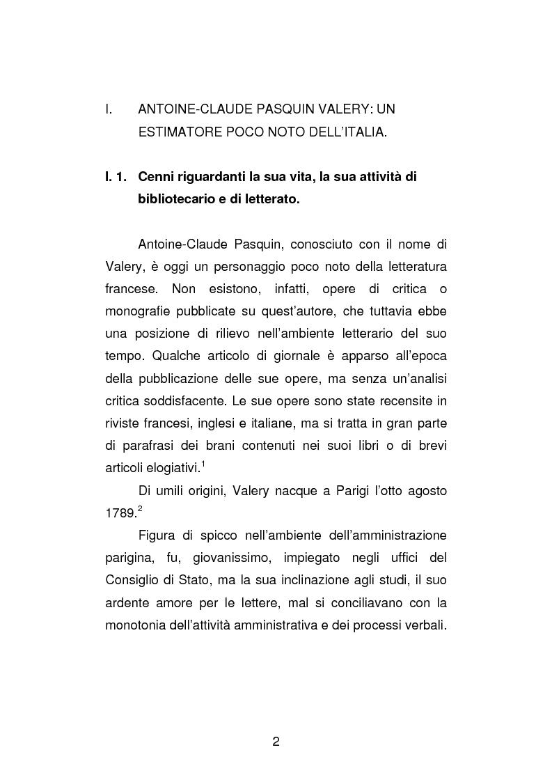 Anteprima della tesi: La versione interfoliata dei ''Voyages historiques, litteraries et artistiques en Italie'' di Antoine-Claude Pasquin Valery, Pagina 5