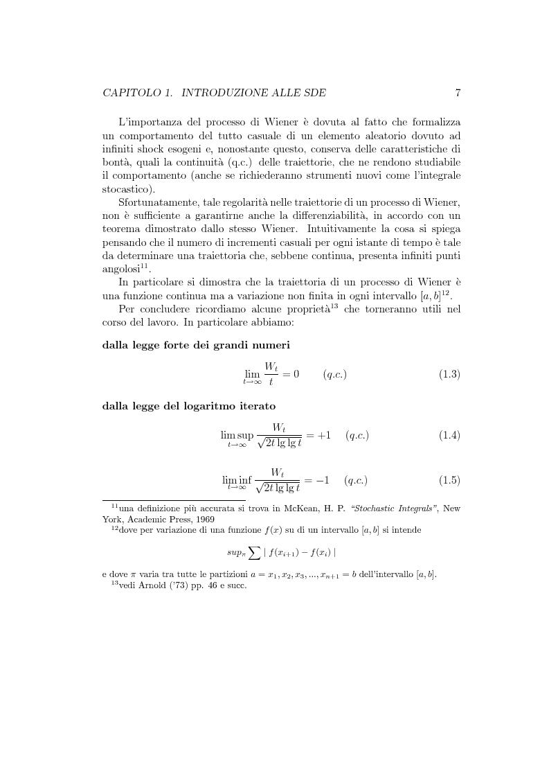 Anteprima della tesi: Il problema della stima nelle equazioni differenziali stocastiche: un approccio operativo, Pagina 6