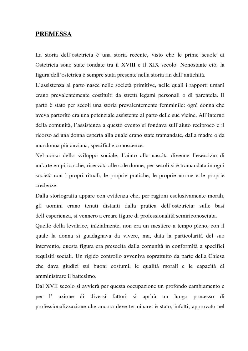 Anteprima della tesi: La formazione dell'ostetrica tra passato e presente. Dall'empirismo alla strutturazione di un curriculum - Il caso di Firenze, Pagina 1